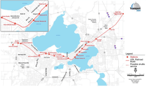 Madison Commuter Rail Alternative Map