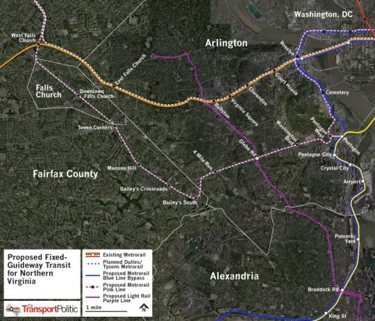Northern Virginia Proposed Metrorail Lines