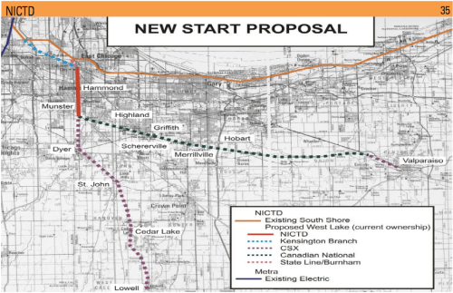 Northern Indiana Transit District Proposed Service Map