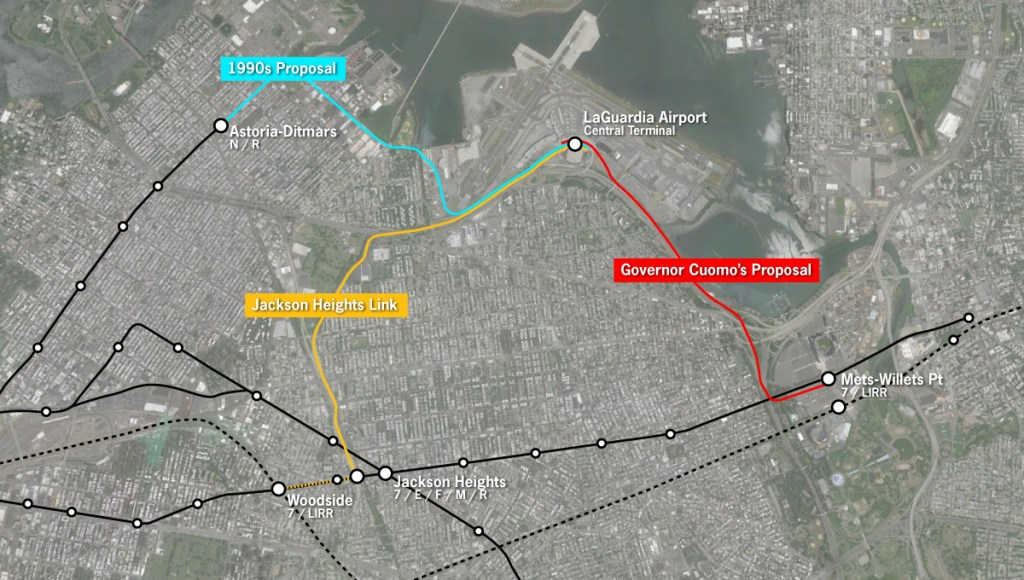 Laguardia Subway Map.For Laguardia An Airtrain That Will Save Almost No One Any Time