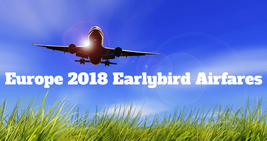Earlybird airfares 2018 - return flights
