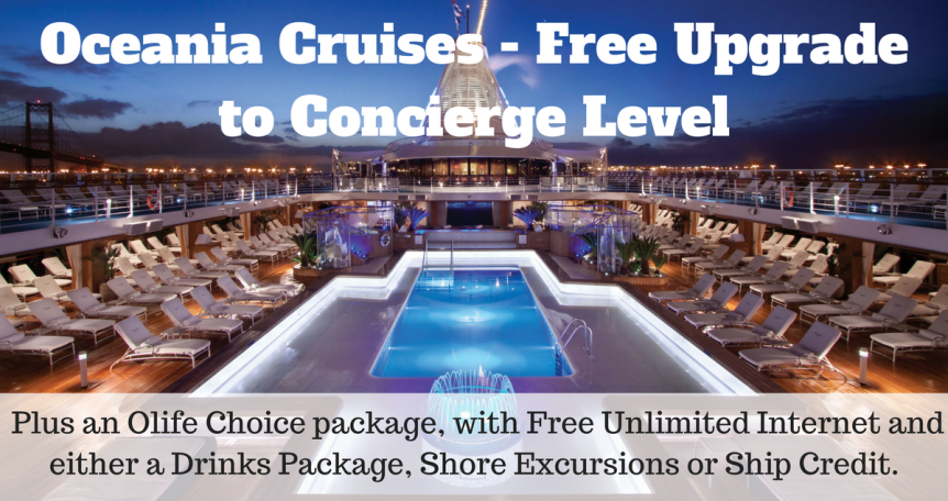 Oceania cruise - Free Upgrade to Concierge