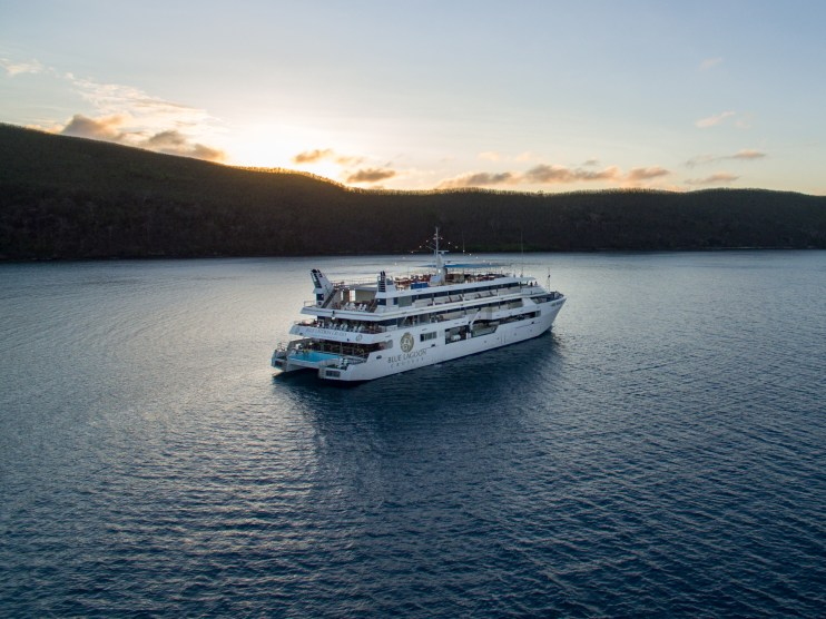 fiji cruise Blue Lagoon ship