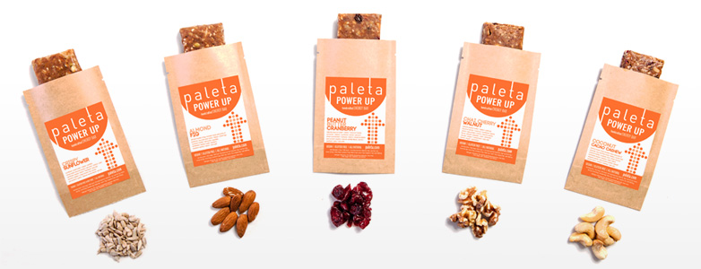 Paleta offers a wide variety of clean energy bars.