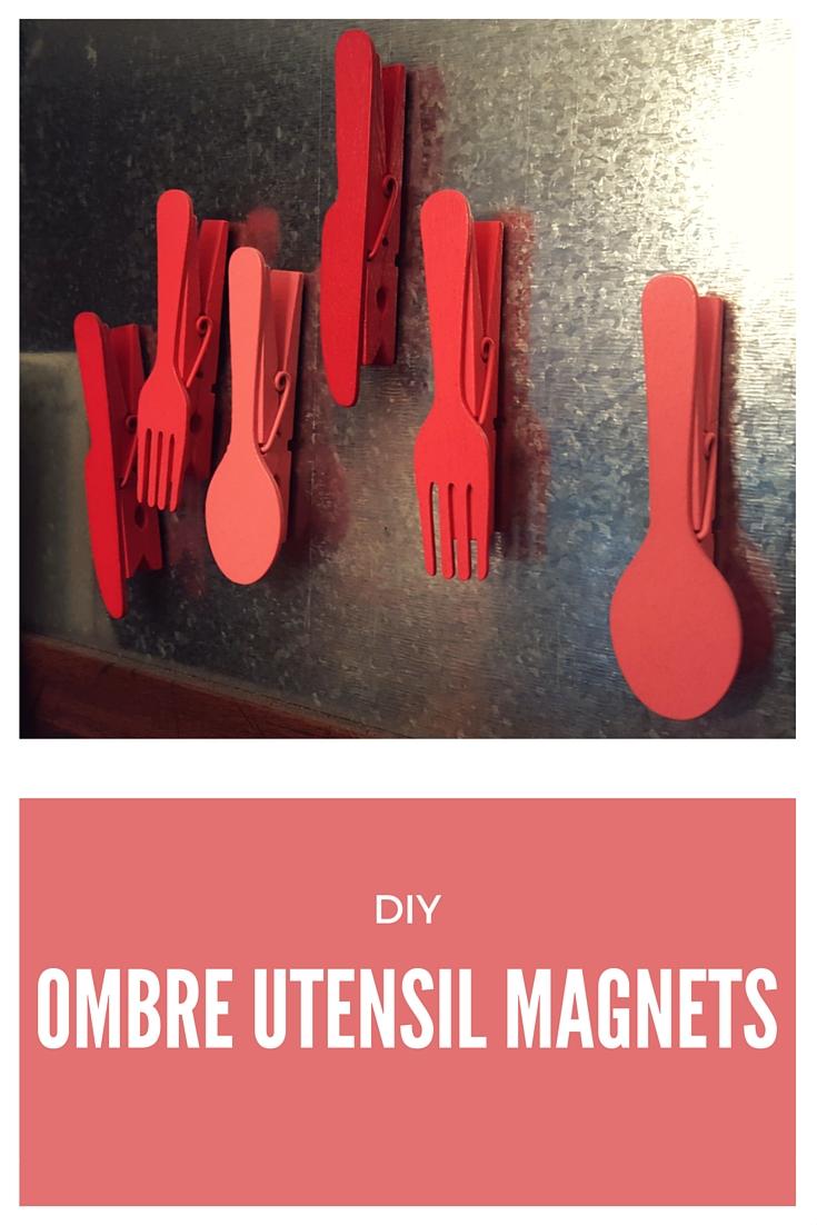 DIY Ombre Utensil Magnets