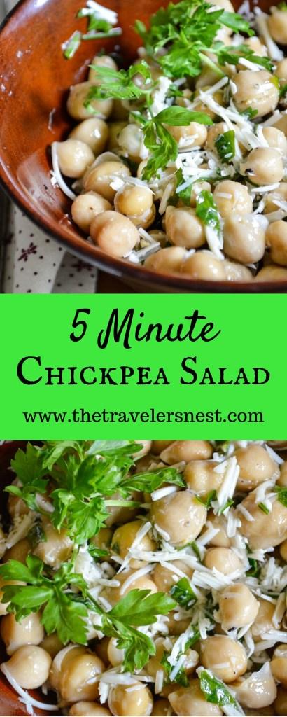 5 Minute Chickpea Salad