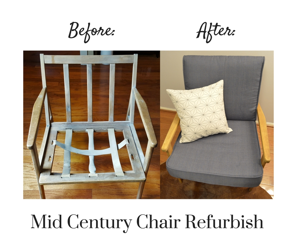 Mid Century Chair Before-After Craigslist Challenge