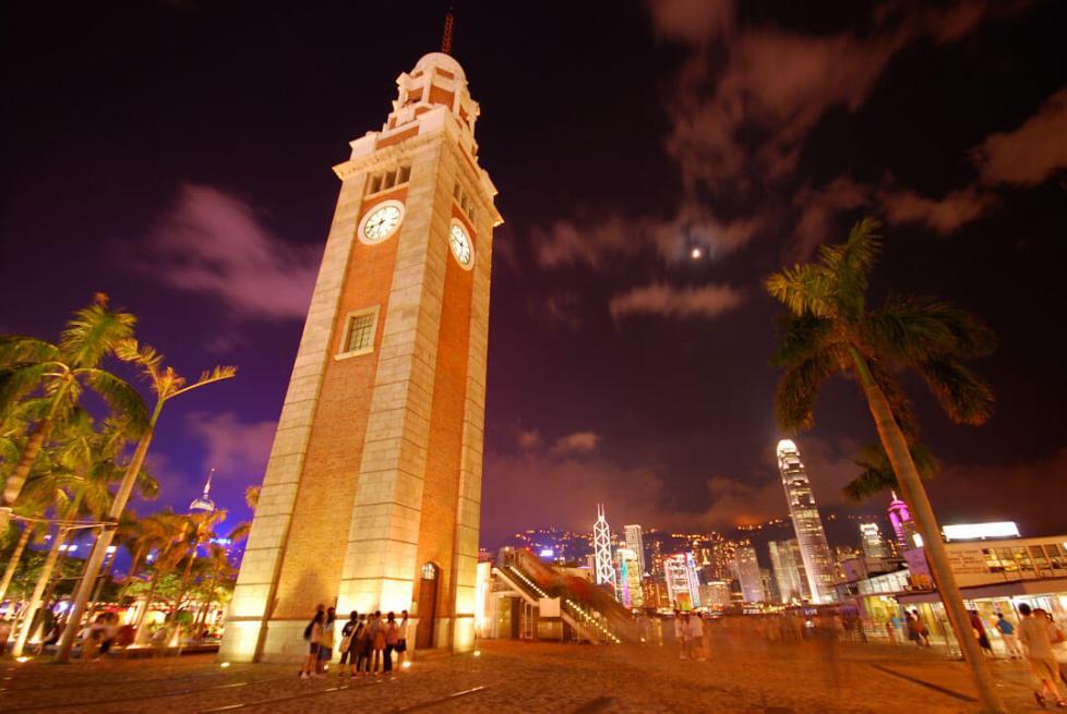 Clock Tower on Kowloon promenade