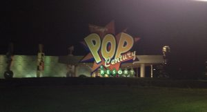 Disney's Pop Century Resort at night
