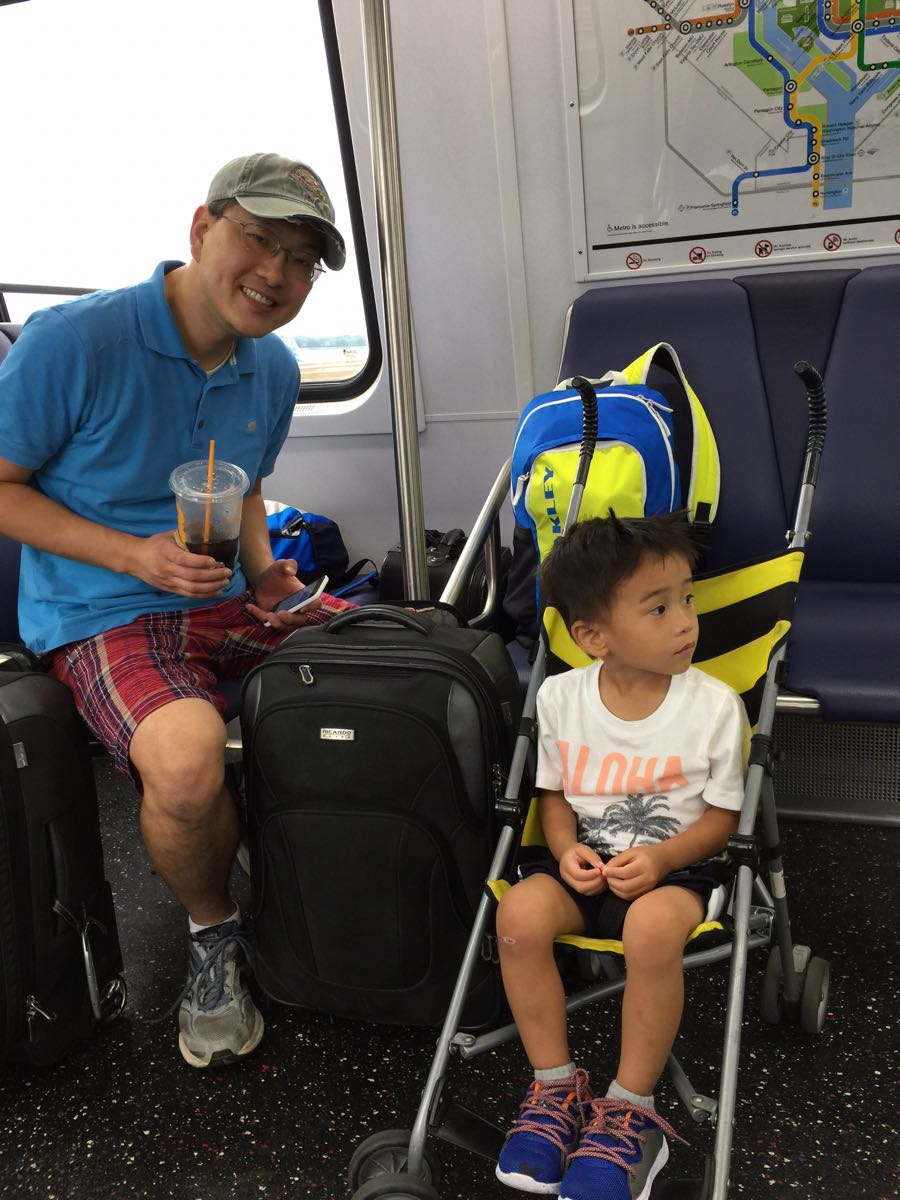 Tyler and Dad on DC Circulator