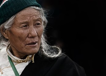 Elderly Tibetan Nomadic Woman