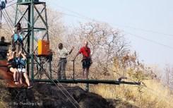 Gorge swing Zip line Victoria Falls Zimbabwe
