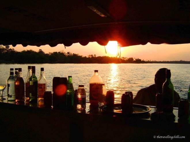 sunset zimbabwe vicfalls victoria falls