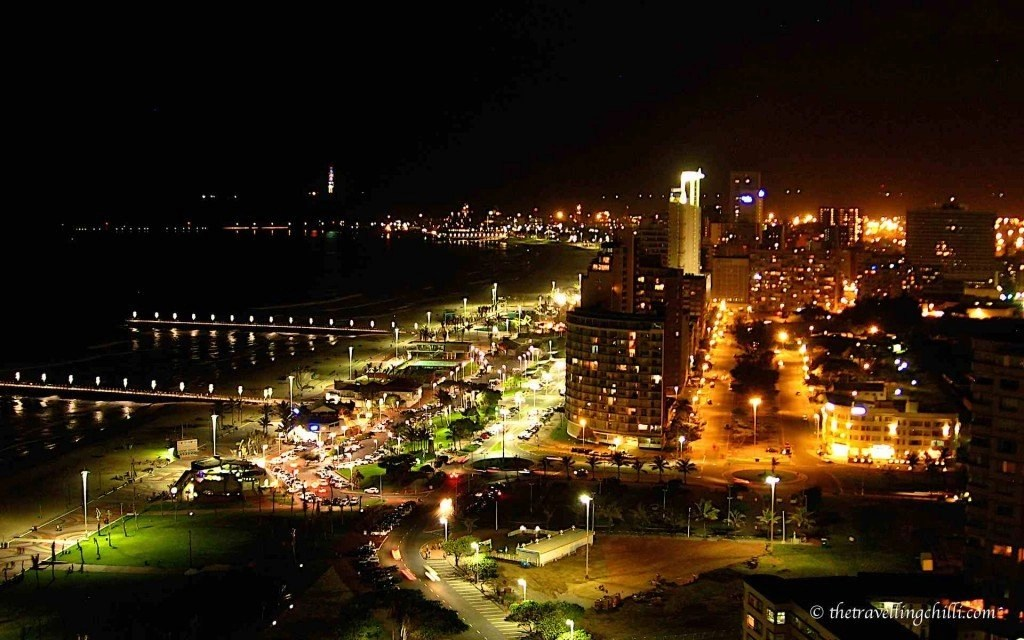 durban night beachfront beach