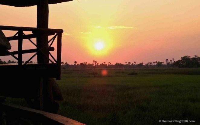 botswana delta sunset okavango