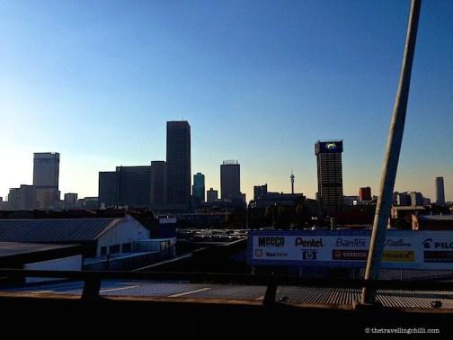 Johannesburg skyline south africa