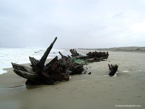Shipwreck skeleton coast namibia