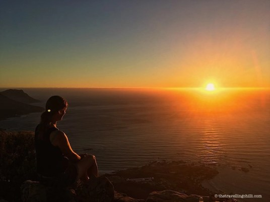 sunset view Lions Head Cape Town