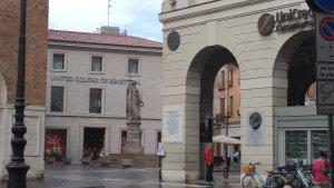 Treviso, Veneto, Italy street scene.