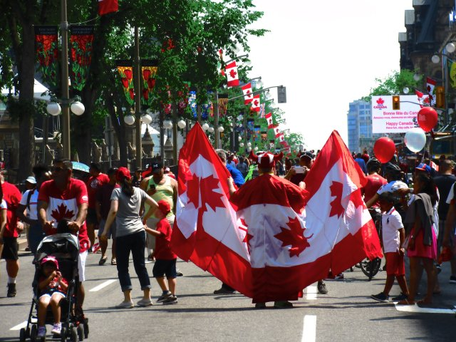 How to Celebrate Canada Day in Ottawa - with full flag colours