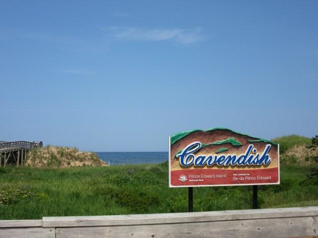 Cavendish road sign in PEI, Canada