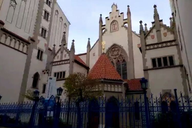 The Maisel Synagogue in the Jewish ghetto of Prague, Czech Republic