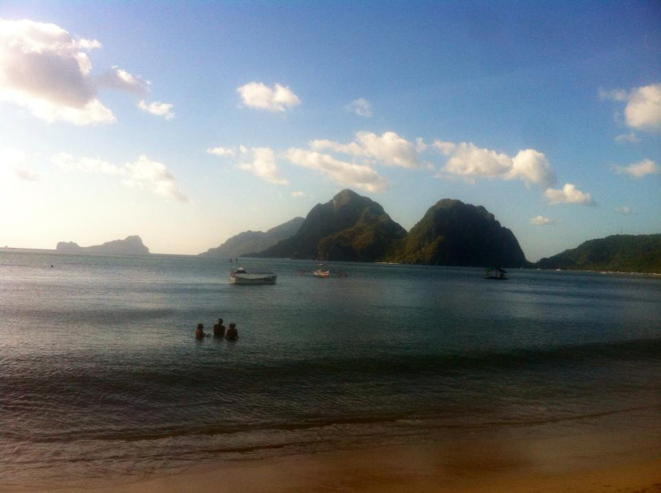 View from El Nido of Bacuit Bay