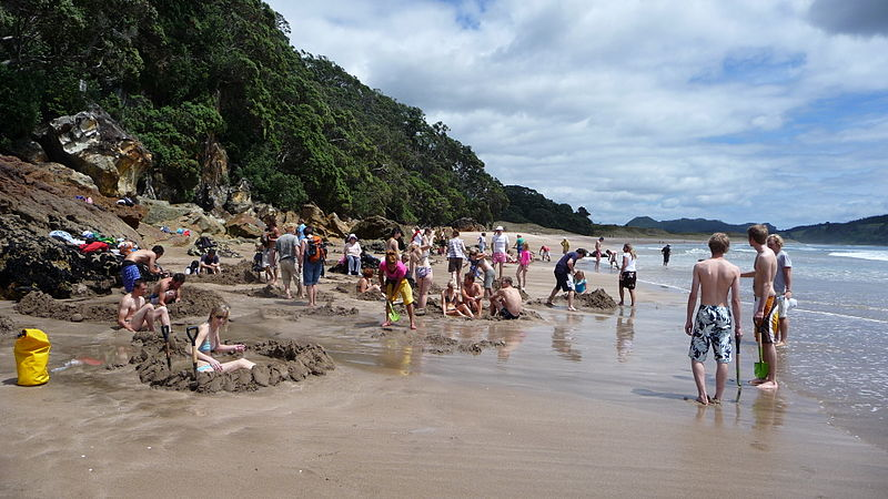 Hot Water Beach in the Coromandel Peninsula