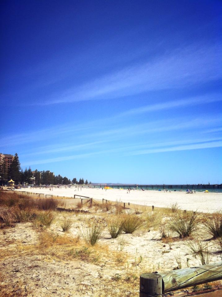 Glenelg beach in South australia