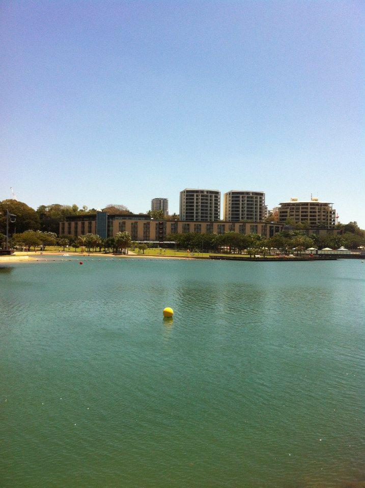 View of the lagoon at Darwin Waterfront