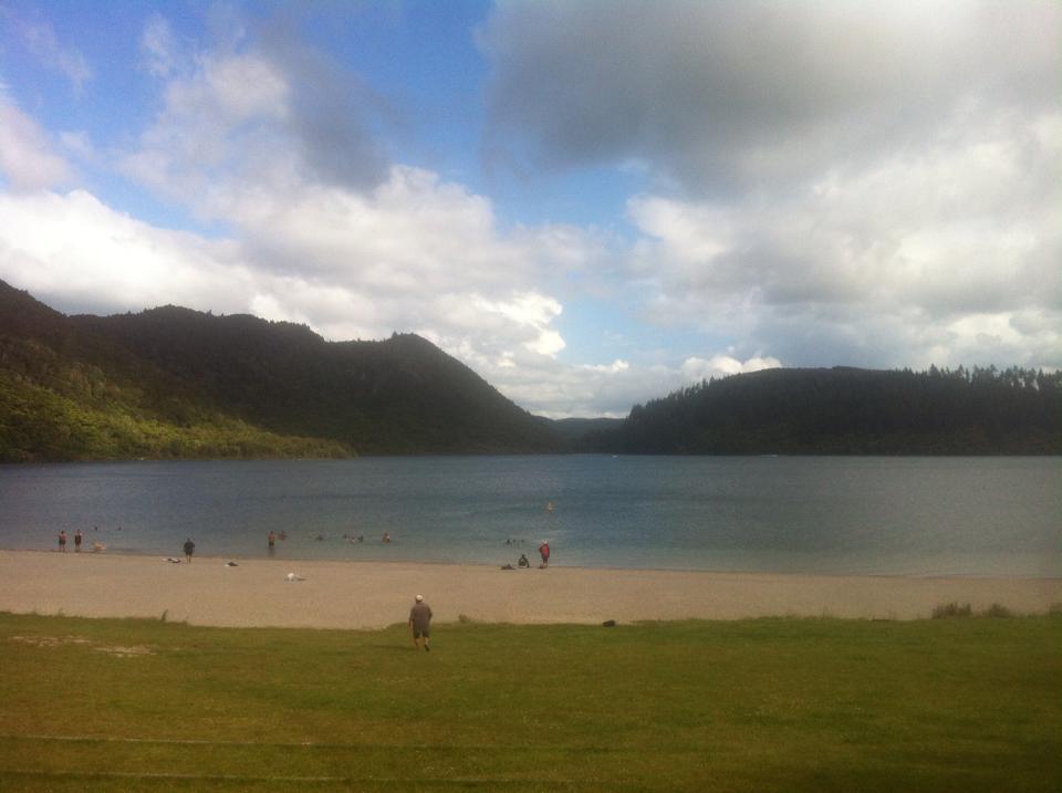 View of lake rotorua