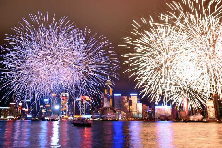 Hong Kong New Year fireworks