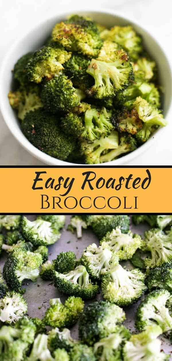 easy roasted broccoli is a quick and easy way to get a delicious and nutritious vegetable on the tabel #broccoli #roastedbroccoli #vegan #vegeterian