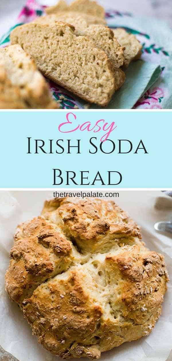 Easy Irish Soda Bread will have homemade bread on the table in less than an hour! #thetravelpalate #homemadebread #bread #easybreadrecipe #rusticbreadrecipe #dutchovenbreadrecipe