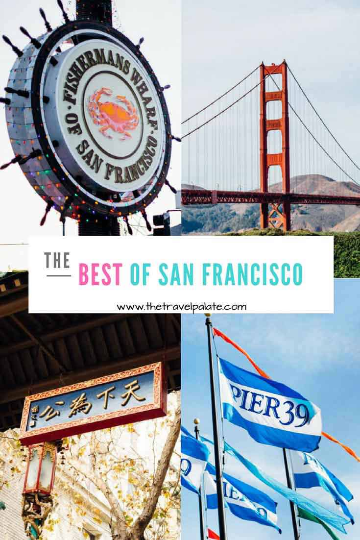 San Francisco, California is the iconic American city. Check out the famed tourist attractions like Fisherman's Wharf, Pier 39, Ghirardelli Square, Golden Gate Bridge, Coit Tower, Chinatown, and Alcatraz! #thetravelpalate #travel #sanfrancisco #california #goldengatebridge #sanfranciscotours