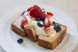 Red, White, and Blue Skillet Pound Cake