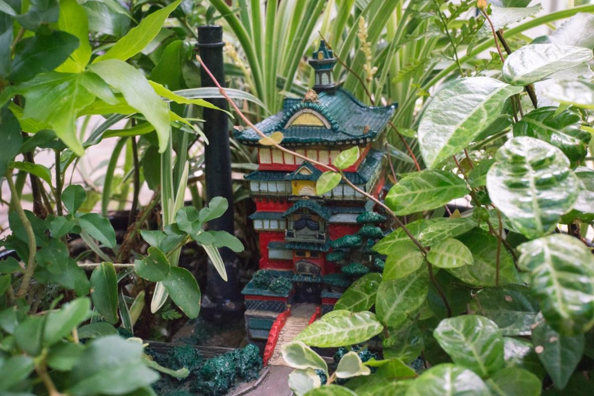 Mini Spirited Away Bath House Outside of Ghibli Museum