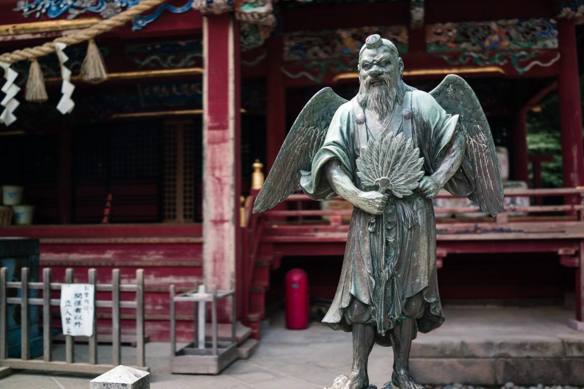 Tengu at Yakuo-in Temple on Mt. Takao