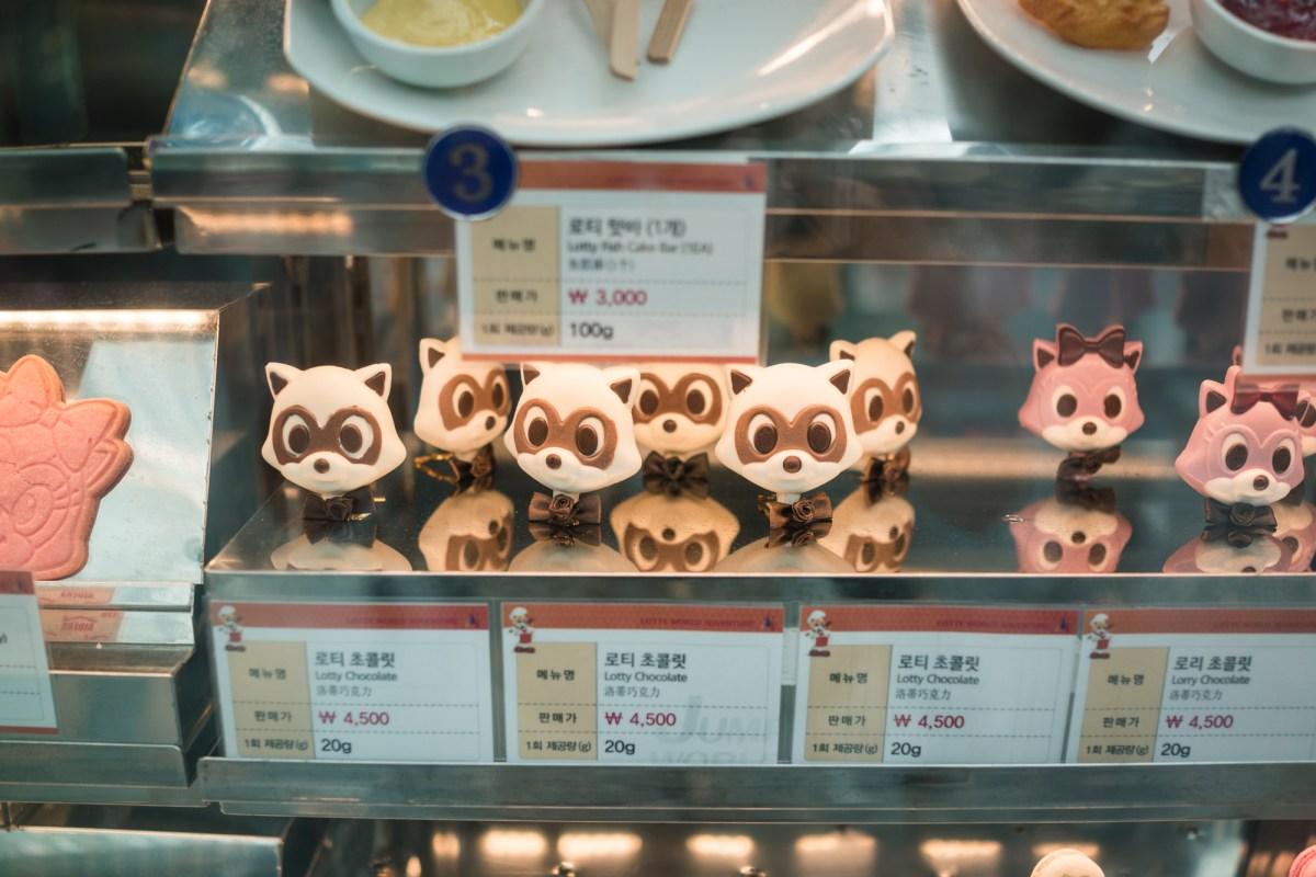 Raccoon Shaped Treats at Lotte World