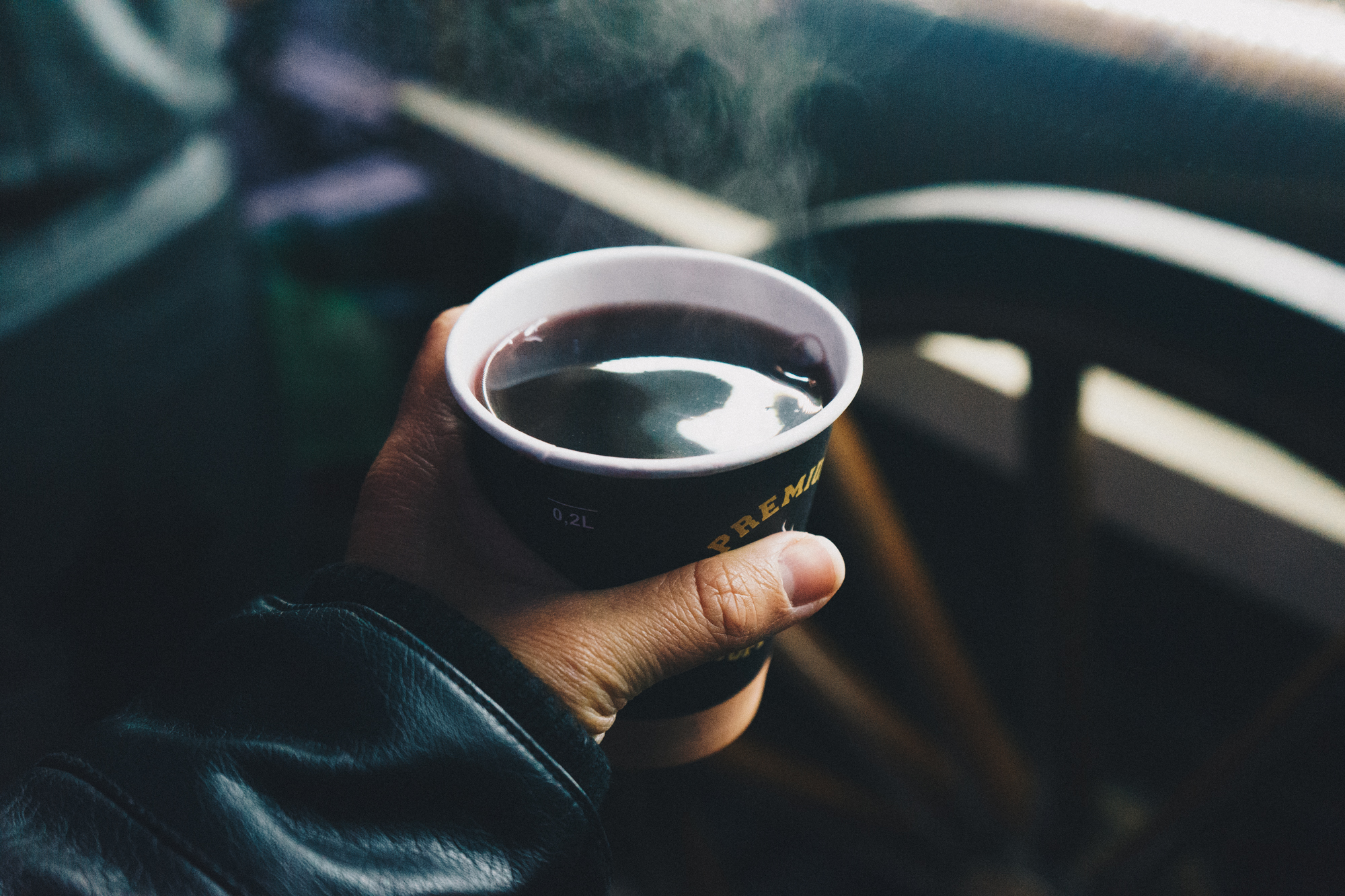 Hot Mulled Wine in Brasov, Romania