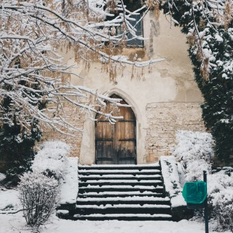 Snow Day in Sighisoara, Romania