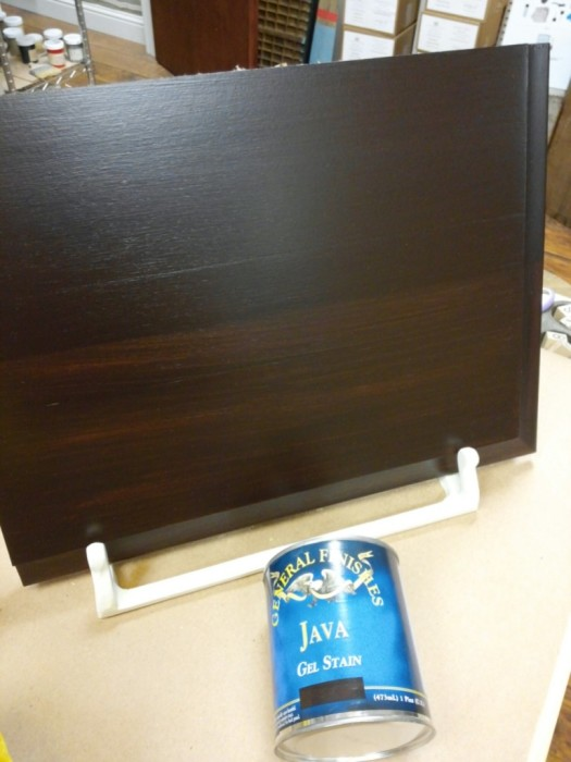 Java gel stain to transform your cabinets the treasured for Best product to remove grease from kitchen cabinets