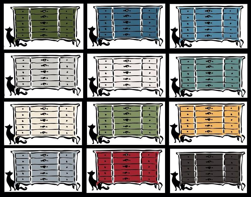 Miss Mustard Seed's Milk Paint Color Pallet.