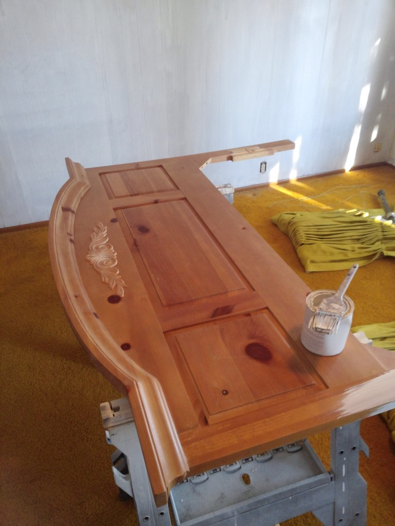 Diary Of A Thrift Store Bed Or How To Paint A Piece Of Furniture The Treasured Home