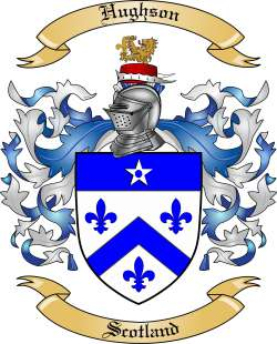 Hughson Family Crest From Scotland By The Tree Maker