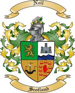 Neil Family Crest From Scotland By The Tree Maker