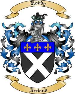 Roddy Family Crest From Ireland By The Tree Maker