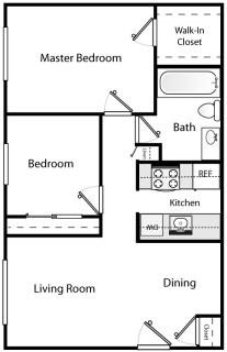 2 Bed / 1 Bath / $400 / Rent: $1,345
