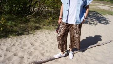 leopard culottes