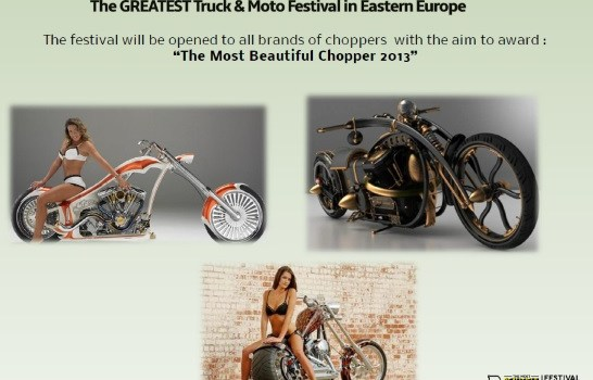 "Fete, choppere si camioane tunate la ""The Most Beautiful Truck&Chopper Festival 2013"""